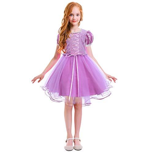 OBEEII Rapunzel Disfraz Niña Carnaval Vestido de Princesa para Navidad Fiesta Halloween Cosplay Costume Rapunzel...