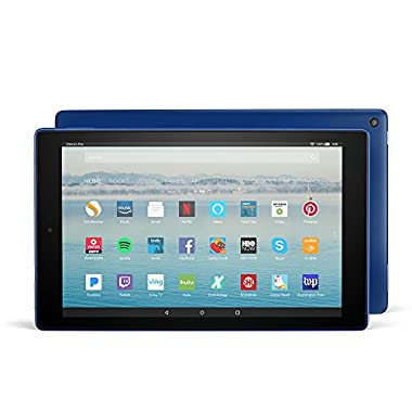 Fire HD 10 Tablet with Alexa Hands-Free, 10.1  1080p Full HD Display, 32 GB, Marine Blue - with Special Offers