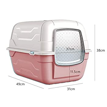 Cat Centre Grand bac à litière avec couvercle + pelle à déjections + filtre à charbon