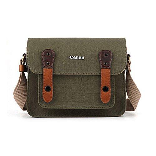 Canon D-SLR RF Mirrorless Pocket Shoulder Bag Case 6520 Khaki for Lens EOS M M2 M3 100D 400D 450D 500D 550D 600D 650D 700D 750D