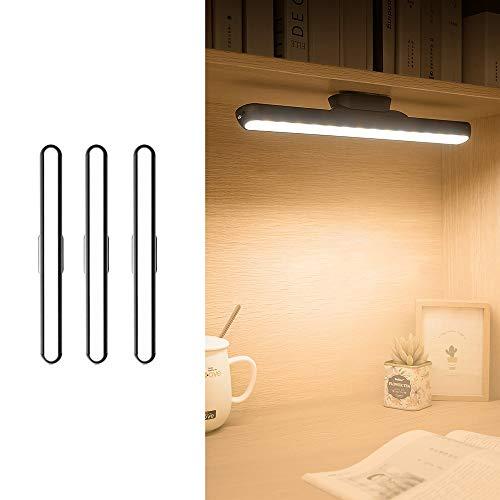 Belief Rebirth 3er-Pack LED kleine Tischlampe USB-Ladeaugen Bedside Lese Streifen-Licht - Adsorption Installation Wandleuchte/Deckenleuchte - 5V 1A Dimming, Einstellbare Nachtlicht