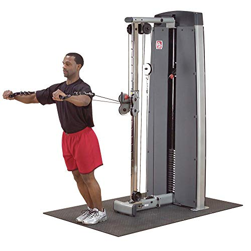 Body-Solid DPCC-SF Pro Clubline Pro Dual Adjustable Cable Column Machine, Exercise Machines for Home and Commercial Gyms