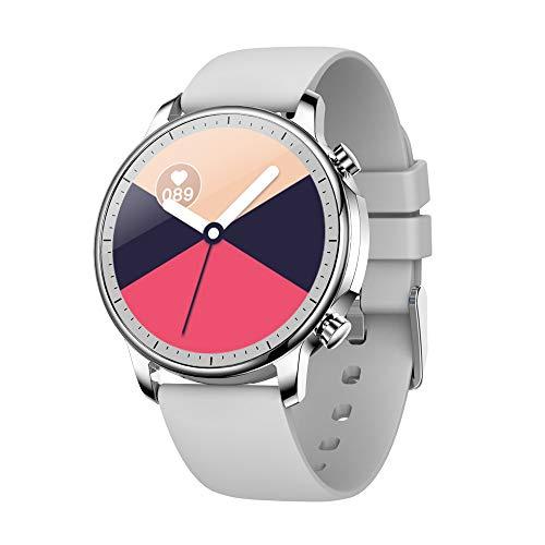 Amuse-MIUMIU Damen Smartwatch Sport Uhr Fitness Tracker Wasserdicht Pulsmesser Schlaftracker Schrittzähler Kalorienzähler Stoppuhr Fitness Uhr Armbanduhr Sportuhr für iOS 9.0 / Android 4.0 (Grau)