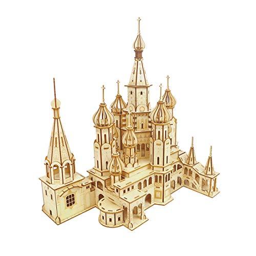 WHCXYLK Puzzle 3D Wooden Puzzle Madera Building Kit Catedral De San Basilio,De Construcción Sin Pegamento para Niños Y Adultos,Decoración Magnífica para La
