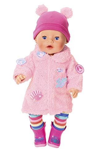 BABY born Deluxe Mantel für 43cm Puppe - Leicht für Kleine Hände, kreatives Spiel fördert Empathie & Soziale Fähigkeiten, für Kleinkinder ab 3 Jahren - Inklusive Kunstpelz-Mantel, Leggings & mehr
