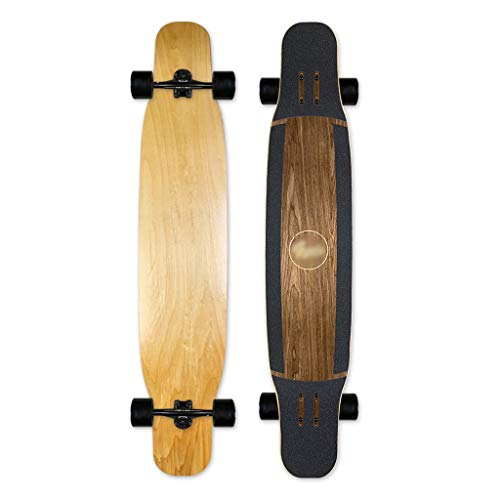 qwert Drop Through Komplettes Skateboard, 46,2 Zoll Longboard, Camber Concave Cruising Dancing Deck Kompletter 7-lagiger kanadischer Maple Freestyle Cruiser für Teenager, Mädchen, Jungen