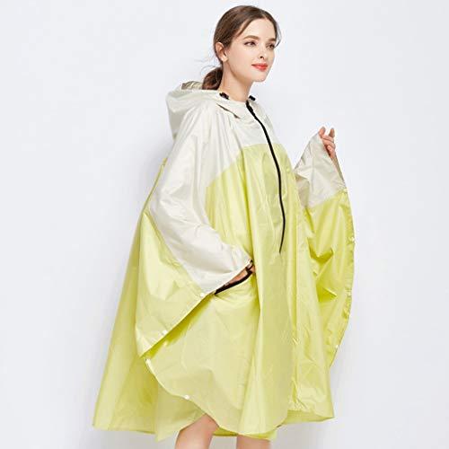 CYT mannen en vrouwen mantel regenjas tweekleurige borduurwerk wandelen draagbare licht waterdichte pak groot formaat vleermuis spelen water pak