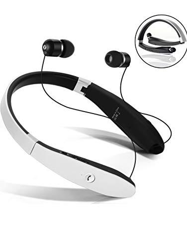 Auriculares Bluetooth 4.1sin hilos Neckband con hilo retráctil para Android y iPhone y otros dispositivos abilitati Bluetooth