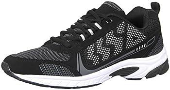 iloveSIA Men s Comfortable Easy-Go Running Shoe Black+WhiteUS Size 9