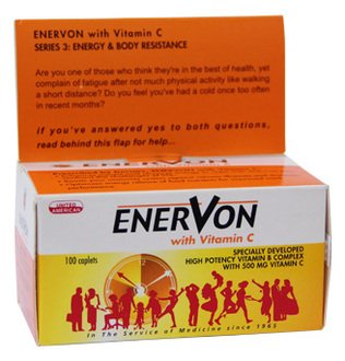 United American Enervon with Ginseng & Vitamin E 30S