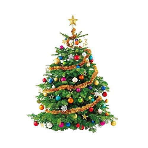 Große Weihnachtsfenster Aufkleber Weihnachtsbaum Wandtattoo Abnehmbare Wandaufkleber Weihnachtsdekoration für Schaufenster/Wand