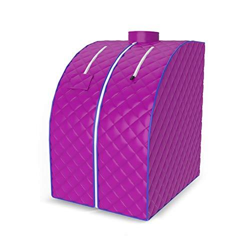 MELKEVDY Far Infrared Sauna Portable Heater Sauna Box Indoor Folding 1000W Home Sauna Steam Cabin Personal Spa Dry Sauna Heater Slimming Weight Loss,Purple