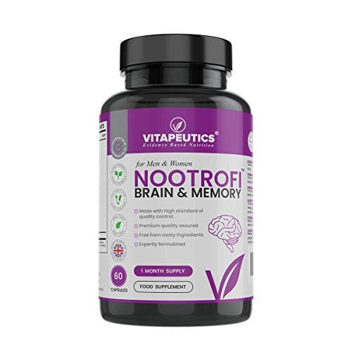 Nootrofi – Brain & Memory Supplement - 60 Vegan Capsules (1 Month Supply) - Made in The UK