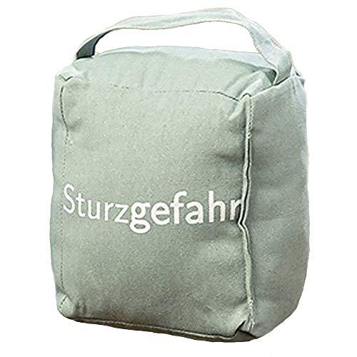 Boltze Türstopper Würfelsack mit Spruch 22cm (Sturzgefahr)