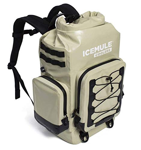 IceMule Coolers - 'The BOSS' Premium Portable Outdoor Cooler & Backpack, 30 Liters- Sand