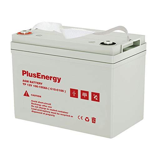Bateria GEL PlusEnergy 12V 100-150AH C10 C100 Ciclo Profundo