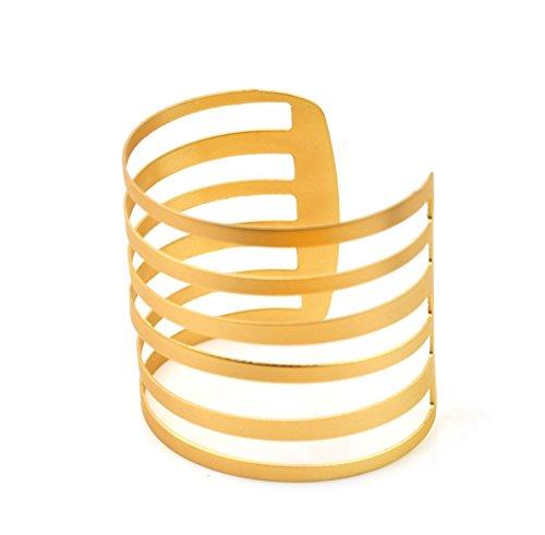 XL Gold Bangle Bracelet Open Ended Cuff UK