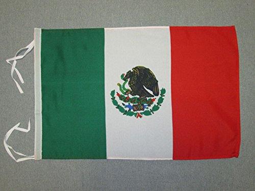 AZ FLAG Flagge MEXIKO 45x30cm mit Kordel - MEXIKANISCHE Fahne 30 x 45 cm - flaggen Top Qualität