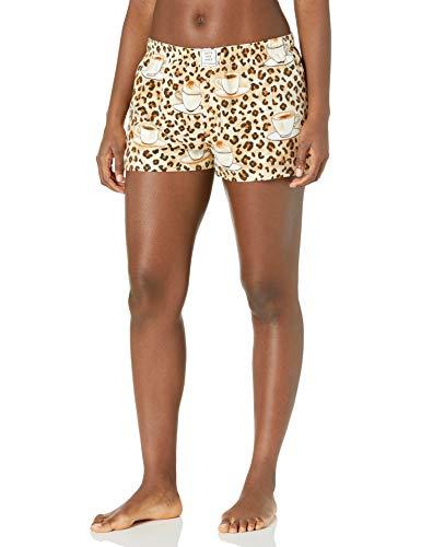 PJ Salvage Women's Loungewear Flannels Short, Taupe, L