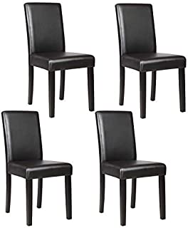 leather dining chair set