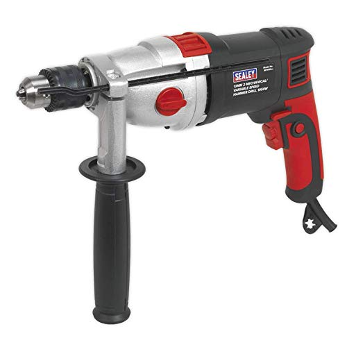 Sealey SD1000 2 Mechanical/Variable Speed Hammer Drill, 1050W, 230V, 13mm