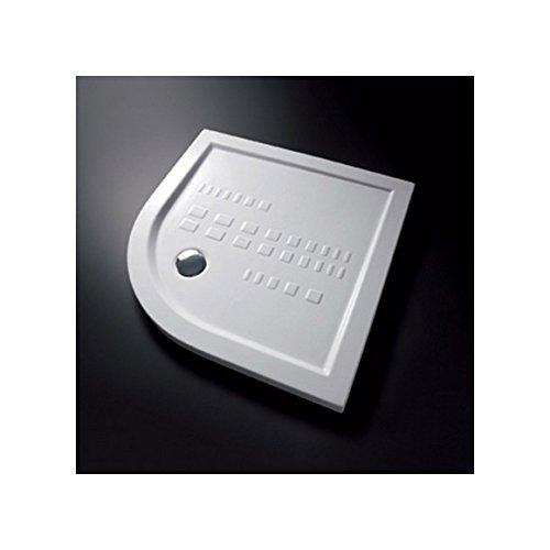 Ceramica Althea - Plato de ducha Ito 80 x 80 x 5,5 H curvado con desagüe sifón.