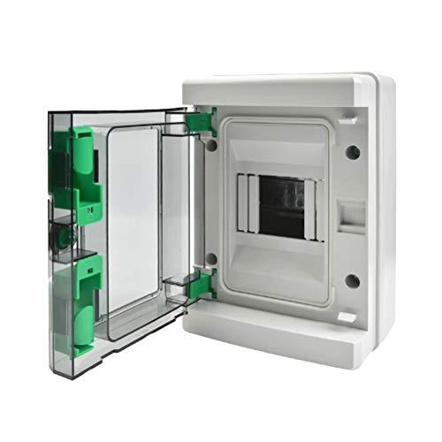 YANSHON Caja de Distribución Eléctrica de Superficie de plástico, Caja Modular Estanca para Empotrar con Puerta, Cuadro de Distribución de Superficie para Uso Doméstico, Ingeniería de Cajas