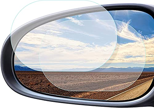 cococity 2 Stücke Auto Rückspiegel Regenfest Fenster Schutzfolie Wasserdichte Folie Schutzfolie Anti Fog Film Cover(10 x 15cm)