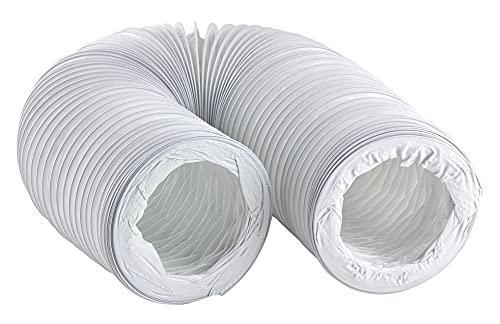 125mm / 3m Abluftschlauch PVC Flexibel Schlauch für Klimaanlagen - Dunstabzugshaube - Trockner