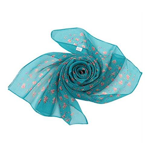 Monbedos Georgette materiaal sjaal roze veerpatroon sjaal voor dames lange sjaal strand zomer chiffon sjaal 150 * 50cm 160 * 50cm donkergroen