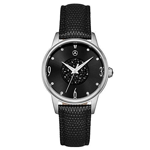 Mercedes Benz original reloj de mujer de pulsera Classic Glamour negro