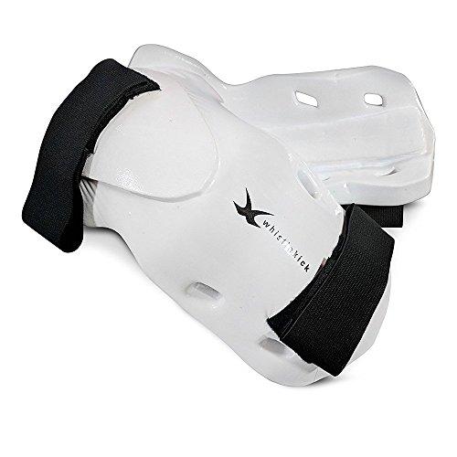 Whistlekick Martial Arts Unterarm- und Ellbogenschützer für Karate, Taekwondo und Kickboxen, Stratus (White), S