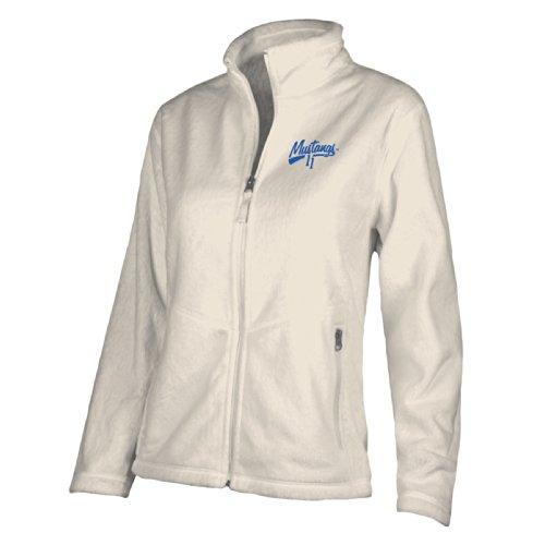 Ouray Sportswear NCAA SMU Mustangs W Luxe Jacket, Large, Gardenia