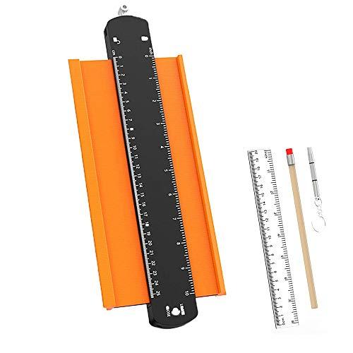 Ygapuzi Contour Gauge con cerradura, herramienta de perfil duplicador de forma ancha para carpintería y carpintería de bricolaje, copia con precisión formas irregulares y esquinas impares, 10 pulgadas