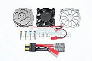 Traxxas Unlimited Desert Racer 4X4 (#85076-4) Upgrade Parts Aluminum Motor Heatsink with Cooling Fan - 1 Set Gray Silver
