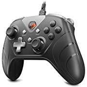 IFYOO XONE Wired PC Controller USB Gaming Gamepad Joystick for Computer & Laptop (Windows 10/8/7/XP, Steam), Android and PS3 - [3M Detachable USB Cable] Black