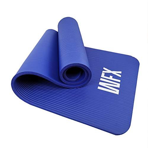 #DoYourFitness x World Fitness - Fitnessmatte Yogamatte »Amisha« - 183 x 61 x 1,2 cm - rutschfest & robust - Gymnastikmatte ideal für Yoga, Pilates, Workout, Outdoor, Gym & Home - Dunkelblau