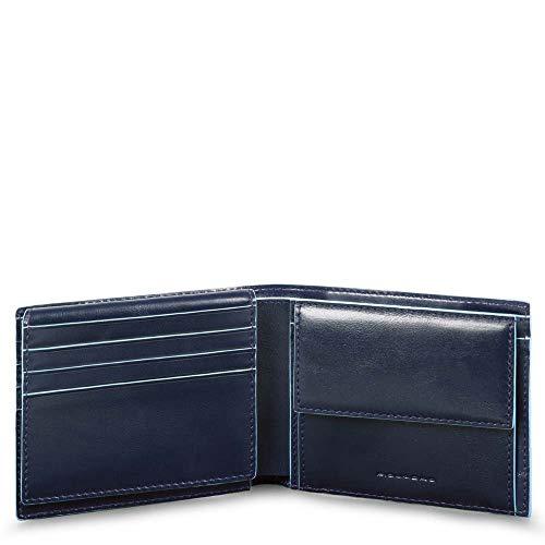 Piquadro Blue Square Wallet with Flip Blu Notte