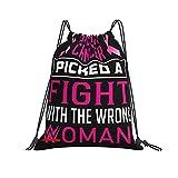 QUEMIN Classic Drawstring Bag Quote and Saying Gym Sack Bag Mochila con cordón Mochila Deportiva de poliéster para Hombres y Mujeres