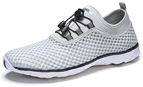 Zhuanglin Women's Quick Drying Aqua Water Shoes,Lightgrey,9 B(M) US