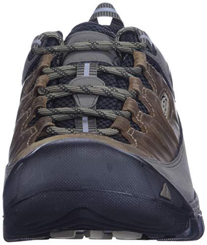 KEEN Men's Targhee 3 Low Height Waterproof Hiking Shoe, Bungee Cord/Black, 7