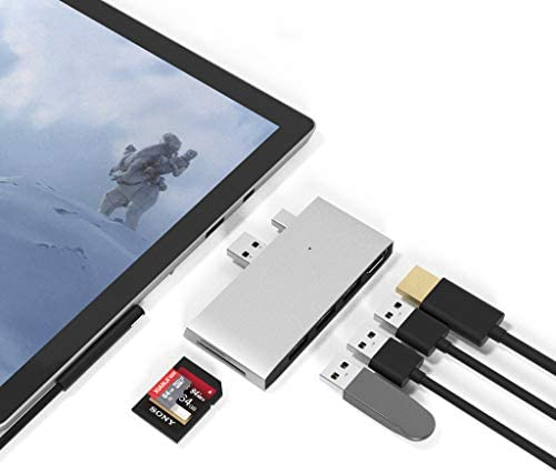 Surface Pro 4 Pro 5 Pro 6 Docking Station USB Hub USB 3 0x3 Hub Adapter SD TF Micro SD Memory product image