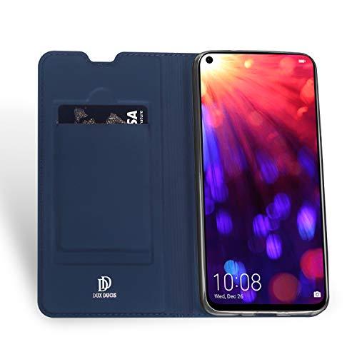 DUX DUCIS Hülle für Honor View 20, Leder Flip Handyhülle Schutzhülle Tasche Case mit [Kartenfach] [Standfunktion] [Magnetverschluss] für Huawei Honor View 20 (Blau) - 4
