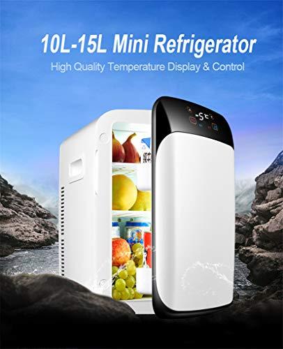 15L Voiture Réfrigérateur Multi-fonctions, Être De Réfrigérateur Domestique Extérieur Mini-réfrigérateur Chauffage Excursion En Plein Air F,White