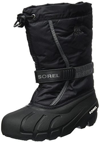 Sorel Kinder Youth Flurry Stiefel, schwarz/grau (city grey), Größe: 37