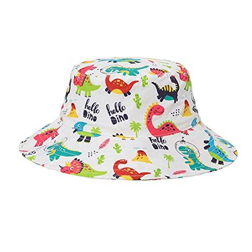 HIAME Sombrero de Sol bebé, Gorro Verano para niños Gorro Infantil, Sombrero Playa de ala Ancha Proteccion UV con Correa Ajustable, Sombrero Pescador de Verano Animales Flores