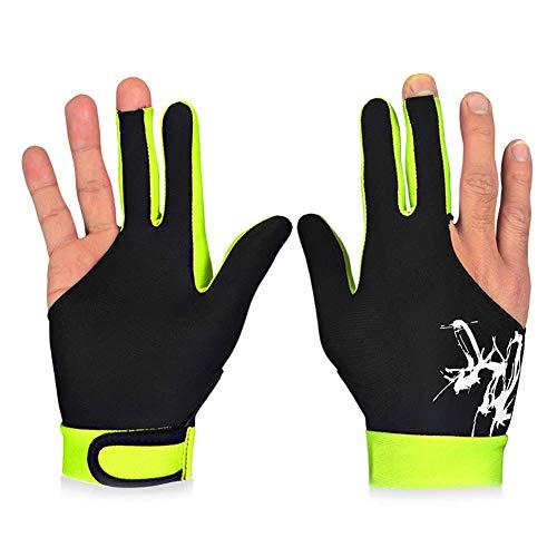 Guajave 1 STK 3 Finger Snooker Billiard Handschuhe Atmungsaktiv Rechts Linke Hand Queue Sports - Gelb, M