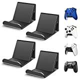 4 Pack Controller Holder Stand Built in Anti-Slip Pads for PS5 PS4 Xbox One Switch Pro Gamepad Controller Wall Mount Adhesive/Screws, Universal Controller Accessories Shark 14 Mini by 6amLifestyle