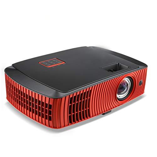 WEIFAN Proyector Proyector de proyección Lateral para proyector de Juegos 3D HD 1080P para el hogar Proyector de Tiro ultracorto