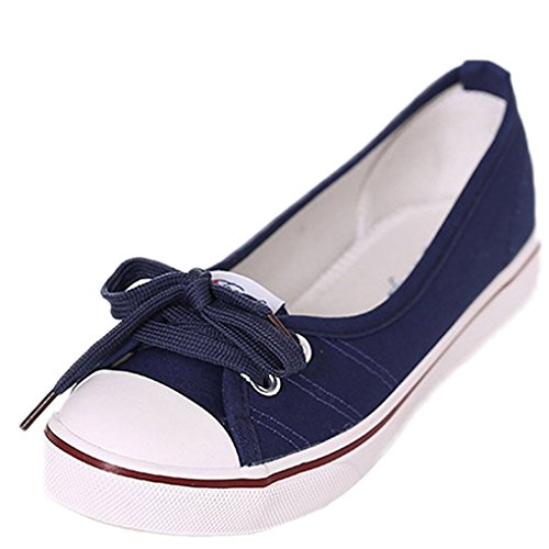 Minetom Femmes Mode Toile Chaussures Bout Rond Talon...